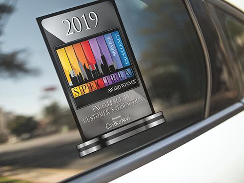 2019 City Beat News Spectrum Award Window Decal on Car