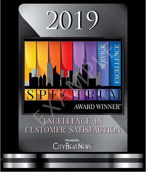 2019 City Beat News Spectrum Award Winner Window Decal