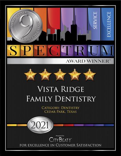 City Beat News 2021 Award Winner, Vista Ridge Family Dentistry