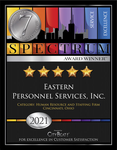 EASTERN PERSONNEL SERVICES, INC. wins 2021 Spectrum Award